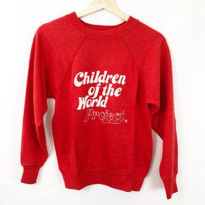 """Vintage Rare """"CHILDREN OF THE WORLD"""" Sweatshirt"""